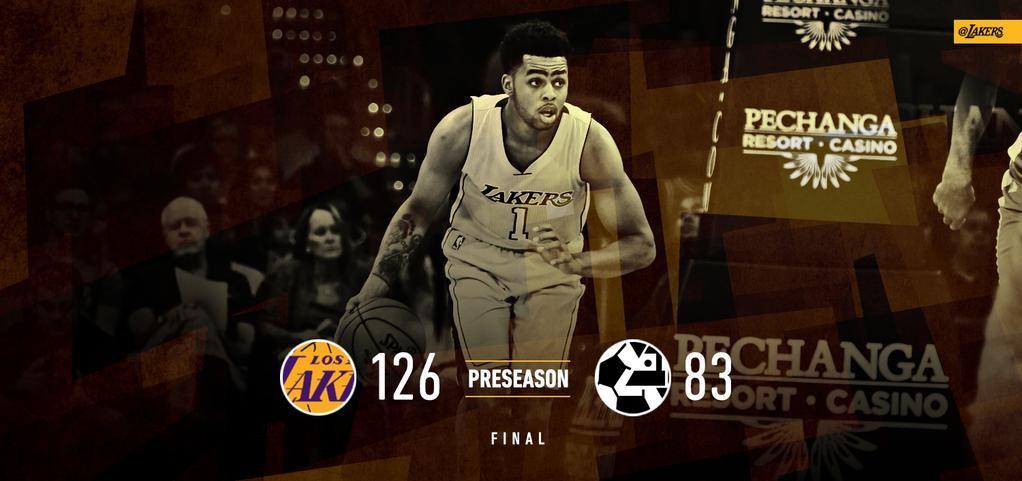 PreSeason 2015: Lakers vs Maccabi 126-83 W (1-3)