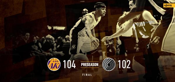 PreSeason 2015: Lakers vs Blazers 104-102 W (3-4)