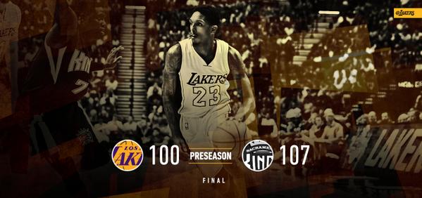 PreSeason 2015: Lakers vs Kings 100-107 L (1-4)